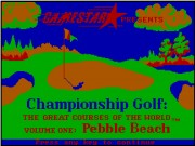 Championship Golf - The Great Courses of the World - Volume I Pebble Beach