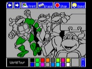 Electric Crayon Deluxe - Teenage Mutant Ninja Turtles - World Tour 1990 Game