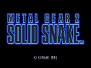 Metal Gear 2 Solid Snake Game