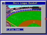 MicroLeague Baseball Game