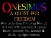Onesimus: A Quest for Freedom