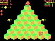 Q*bert on Msdos Game