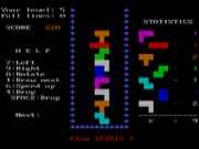 Tetris on Msdos Game