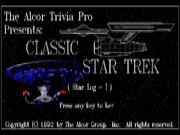 The Alcor Trivia Pro Classic Star Trek Star-Log I